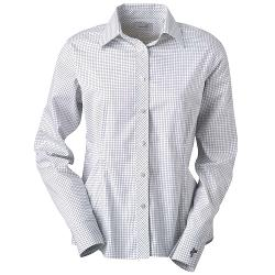 Ladies  Check Pattern Woven Button Down Shirt by Ashworth in What If