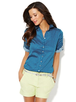 Madison Polka Dot Shirt by 7th Avenue Design Studio in Confessions of a Shopaholic