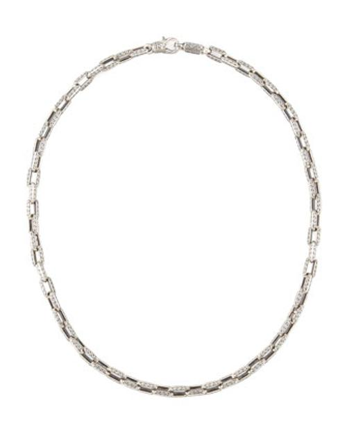 Sterling Silver Square-link Chain Necklace by Konstantino in Hot Tub Time Machine 2
