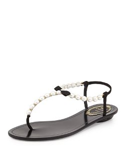 Pearly & Crystal Thong Sandal by Rene Caovilla in The Other Woman