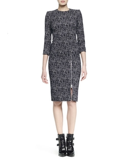 Zip-Hem Printed Sheath Dress by Alexander McQueen in The Good Fight