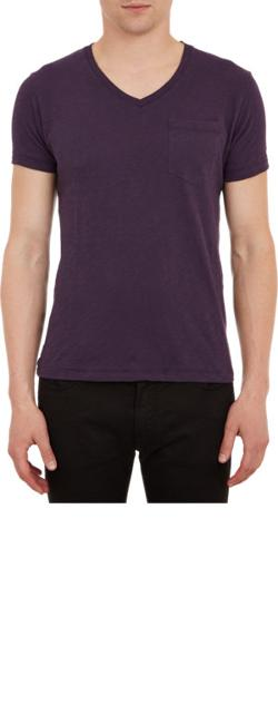 Chest Pocket V-Neck T-Shirt by TODD SNYDER in About Last Night