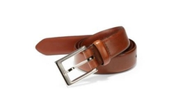 Leather Belt by Saks Fifth Avenue Collection in Rosewood