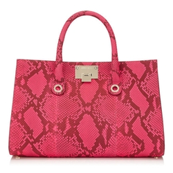 Riley Fluorescent Python Tote Bag by Jimmy Choo in Empire