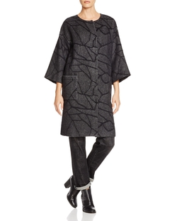 Abstract Print Coat by Eileen Fisher in The Good Wife