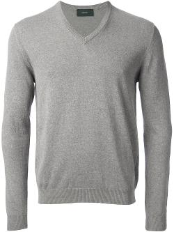 V-Neck Sweater by Zanone in No Strings Attached