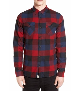 Trim Fit Check Flannel Woven Shirt by Vans in American Ultra