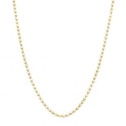Faceted Bead Chain Necklace by Vale Jewelry in Billions