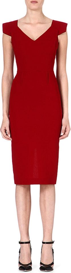 Atria Wool-Crepe Dress by Roland Mouret in Suits