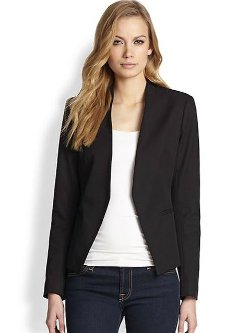 Lanai Cropped Open Front Blazer by Theory in That Awkward Moment