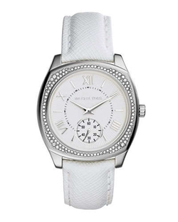 Bryn Stainless Leather-Strap Watch by Michael Kors in Ballers