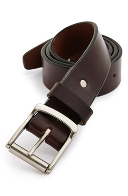 Roller Buckle Leather Belt by Apolis in Mr. & Mrs. Smith