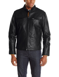 Men's Lamar Leather Moto Jacket by Marc New York by Andrew Marc in Spotlight