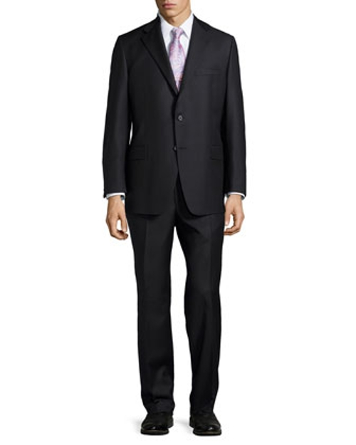 Tonal Solid Two-Piece Suit by Hickey Freeman in The Second Best Exotic Marigold Hotel