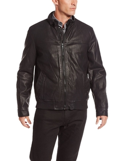 Faux Leather Latch Collar Bomber Jacket by Tommy Hilfiger in The Vampire Diaries