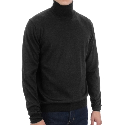 Merino Wool Turtleneck Shirt by Toscano in Barely Lethal