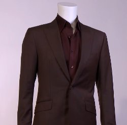 Custom Made Slim Peaked Lapel Suit by Mark Bridges (Costume Designer) in Fifty Shades of Grey