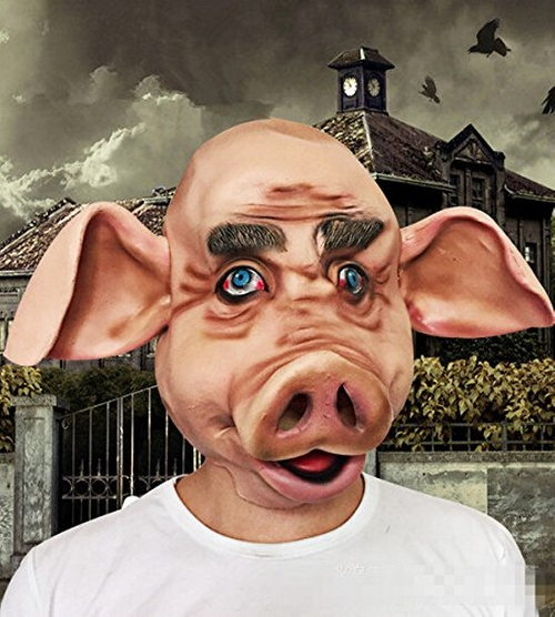 Animal Pig Head Mask by Bear Boys in The Purge: Election Year