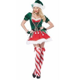 Women's Santa's Helper Costumes by California Costumes in Unbreakable Kimmy Schmidt