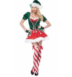 Women's Santa's Helper Costumes by California Costumes  in Unbreakable Kimmy Schmidt