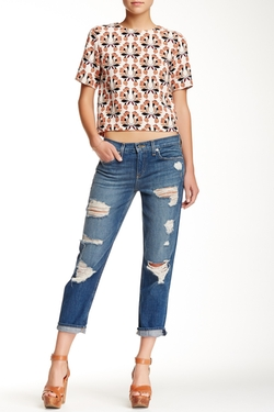 Gia Distressed Boyfriend Jean by Genetic Denim in Captive