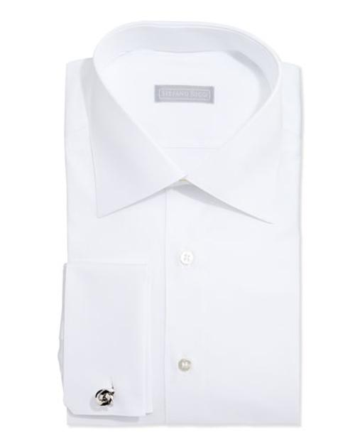 Basic French-Cuff Solid Dress Shirt by Stefano Ricci in The Other Woman