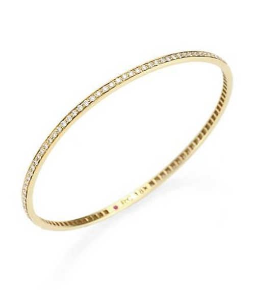 Diamond & Yellow Gold Bangle Bracelet by Roberto Coin in Suicide Squad