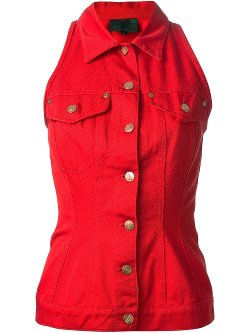 Sleeveless Denim Jacket by Jean Paul Gaultier Vintage in Pitch Perfect 2