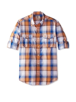 Checked Long Sleeve Shirt by Timberland in The Big Bang Theory