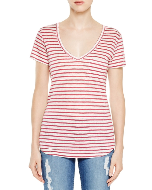 Lynnea Stripe Tee Shirt by Paige Denim in Vinyl - Season 1 Episode 1