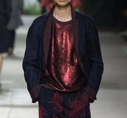 Sequin Front Sleeveless Shirt by Dries Van Noten in Empire