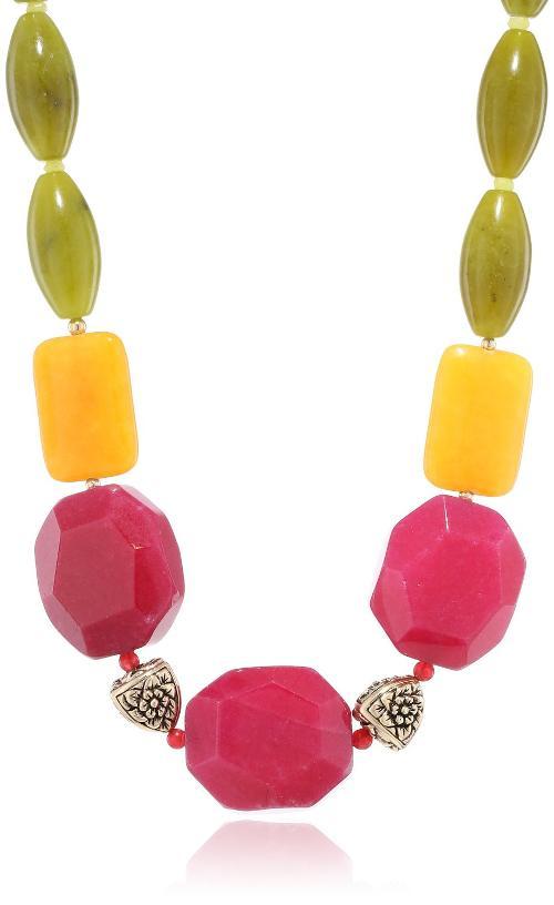 Luau Genuine Multi-Stone Bright Necklace by Barse in Little Fockers