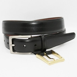 Glazed Kipskin Leather Belt by Torino in Our Brand Is Crisis