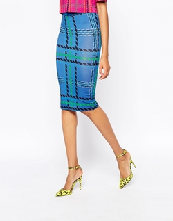 Plaid Tube Skirt by House of Holland in Scream Queens
