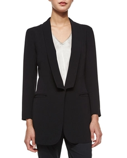 Soft Shawl Collar One-Button Blazer by ATM in Pretty Little Liars