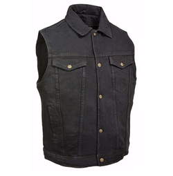 Denim Shirt Collar Snap Front Vest by Milwaukee Leather in The Fate of the Furious