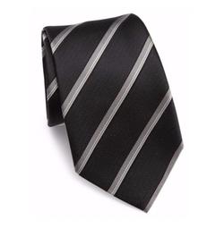 Striped Woven Jacquard Silk Tie by Armani Collezioni in New Girl