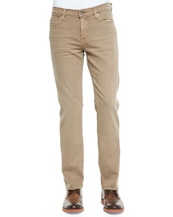 Luxe Performance Slimmy Sand Jeans by 7 For All Mankind in The Transporter: Refueled