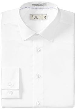 Men's Solid Long Sleeve Dress Shirt by Haggar in The Best of Me