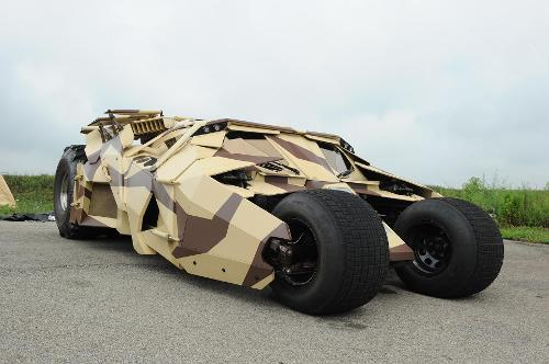 The Batmobile Camouflage Version (Tumbler) by Nathan Crowley (Production Designer) in The Dark Knight Rises