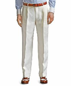 Madison Fit Pleat-Front Classic Gabardine Trousers by Brooks Brothers in The Great Gatsby