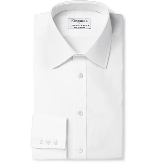White Royal Oxford Cotton Shirt by Turnbull & Asser in Kingsman: The Secret Service