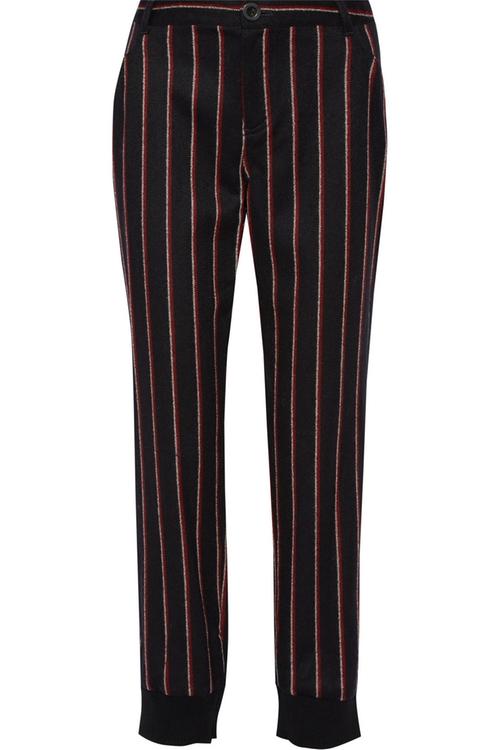 Bourdin Striped Wool Blend Straight Leg Pants by Rebecca Minkoff in Pretty Little Liars - Season 6 Episode 13