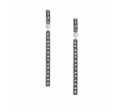 Marcasite Linear Earrings by Lord & Taylor in Sisters