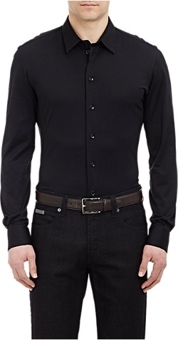 Jersey Button-Down Shirt by Armani Collezioni in The Gift
