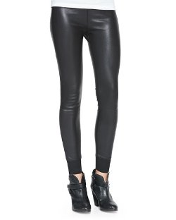 The Danny Leather Leggings by Rag & Bone in That Awkward Moment