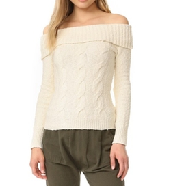 Cable Fold Over Sweater by Free People in Fuller House