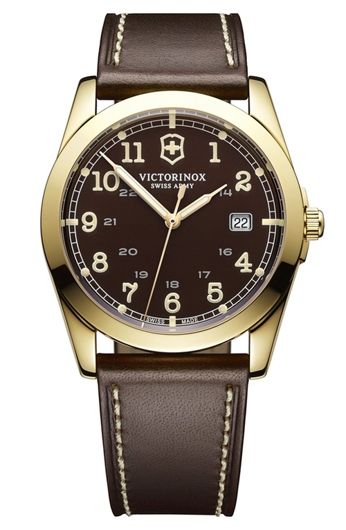 'Infantry' Leather Strap Watch by Victorinox Swiss Army in The Walk