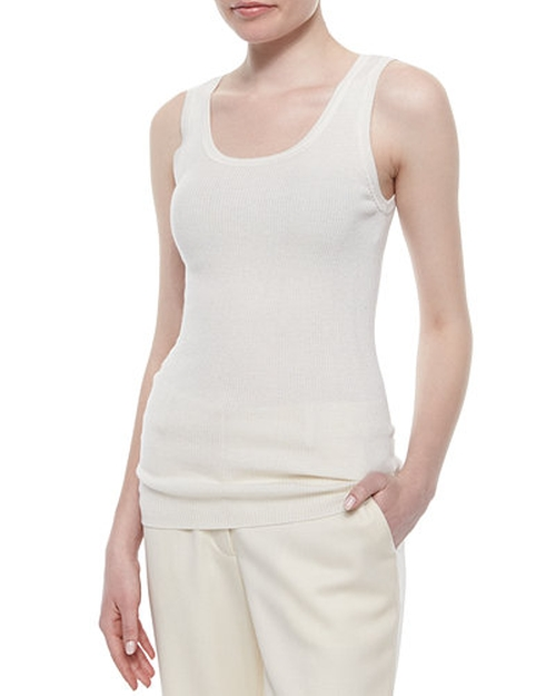 Ribbed Scoop-Neck Tank Top by Magaschoni in Mr. & Mrs. Smith