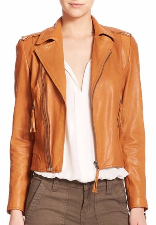 Ailey Leather Jacket by Joie in Pretty Little Liars - Season 7 Episode 7